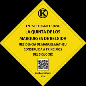 Placa 12 girada. Quinta de los Marqueses de Belgida