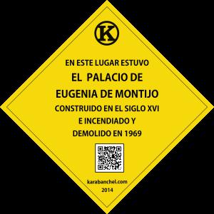 Placa 2 Girada. PALACIO DE Eugenia de Montijo