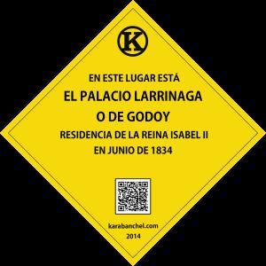 Placa 3 GIRADA. Palacio Larrinaga resiedencia real