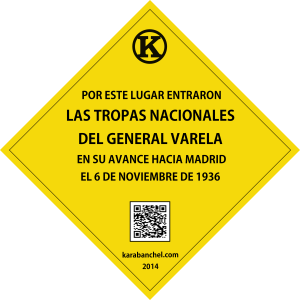 Placa 4 GIRADA. Tropas nacionales del General Varela