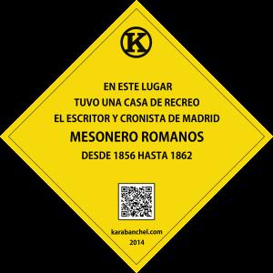 Placa 5 GIRADA. Casa Mesonero Romanos