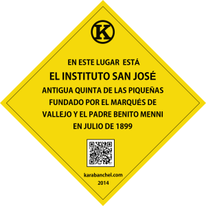 Placa 8 girada. Instituto San José