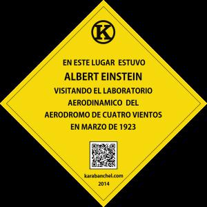 Placa 9 GIRADA. Albert Einstein en Cuatro Vientos