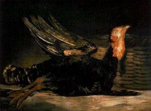 Un pavo muerto sin pelar de Goya