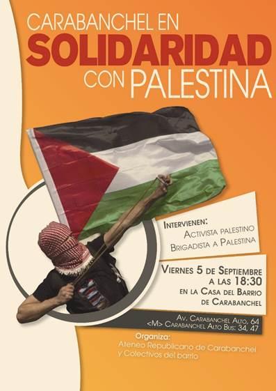 Acto Carabanchel en solidaridad con Palestina Casa del Barrio