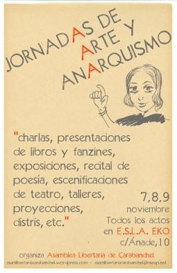 cartel_jornadas de arte y anarquismo EKO noviembre 2014