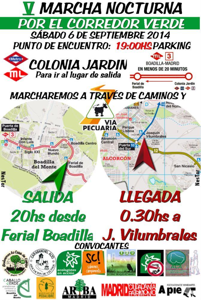 V Marcha nocturna por el Corredor Verde el 6 de septiembre (1/2)