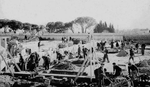 Construcción de la Prisión Provincial de Madrid (1942)