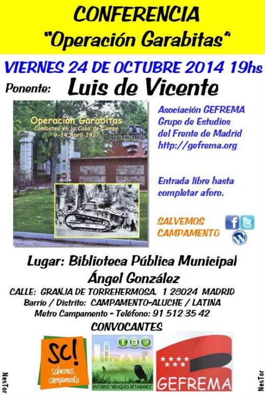 Conferencia Operación Garabitas Aluche