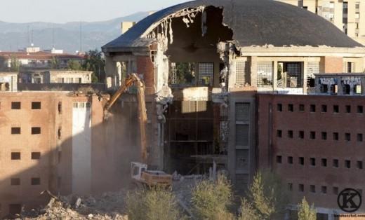 Derribo de cárcel de Carabanchel (octubre de 2008)