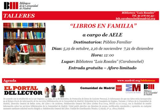 Libros en familia AELE biblioteca Luis rosales