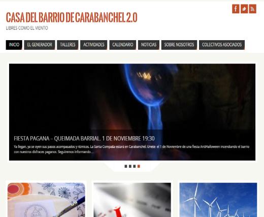 Página web casa del Barrio