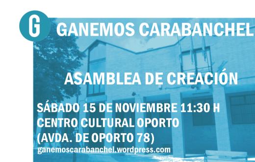 Asamblea de creación Ganemos Carabanchel con web