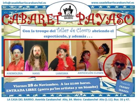 Cabaret Payaso Casa del Barrio Carabanchel