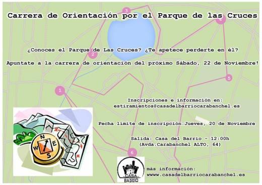 Carrera de orientacion por el Parque de las Cruces Casa del Barrio 22 de noviembre