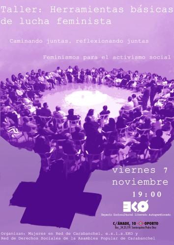 cartel-taller-feminismo eko 7 noviembre