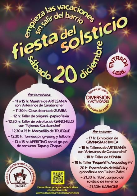 Cartel-Fiesta-Solsticio Casa del barrio 20 diciembre 2014