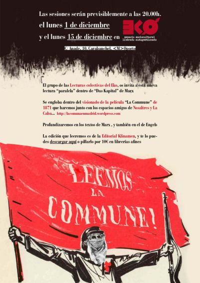 cartel-la-comuna-Nov Lectura L a Comuna de Paris