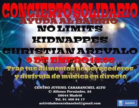 Concierto solidario 9 de nero centro juvenil de Carabanchel Alto
