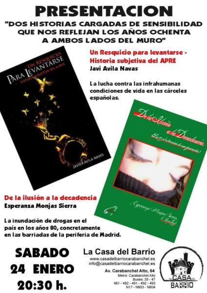 Presentacion libros un resquicio para levantarse De la ilusion a la decadencia casa del barrio 24 de enero