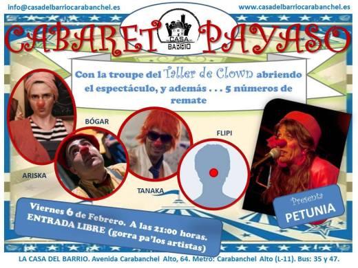 Cabaret Payaso Casa del Barrio Carabanchel 6 de febrero