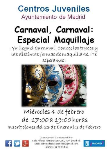 Carnaval especial maquillaje Centro Juvenil Carabanchel Alto