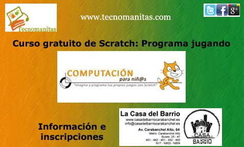Curso gratuito Scratch Casa del Barrio Carabanchel