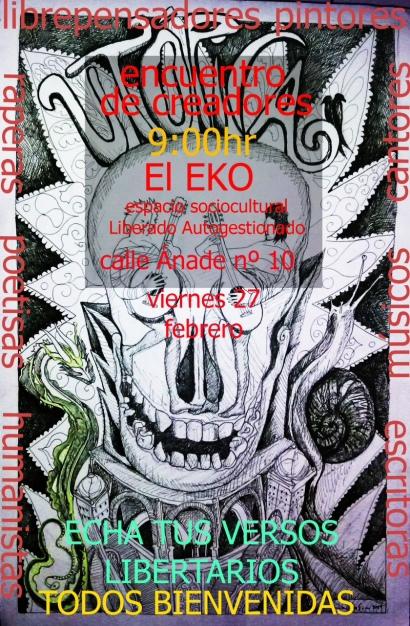 Poesía libertaria y concierto acústico EKO 27 de febrero