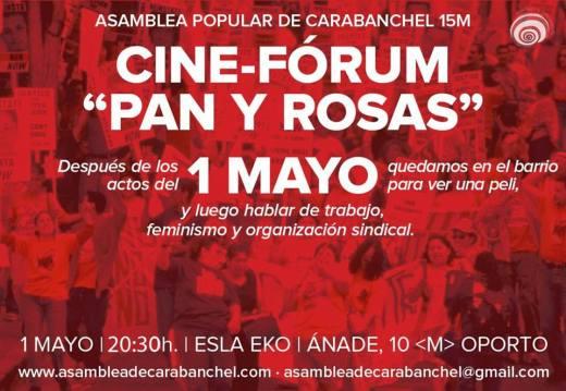 Cine forum Pan y rosas en el EKO 1 de mayo