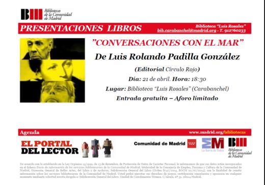 Conversaciones con el Mar Luis Rolando Padilla Biblioteca Luis Rosales
