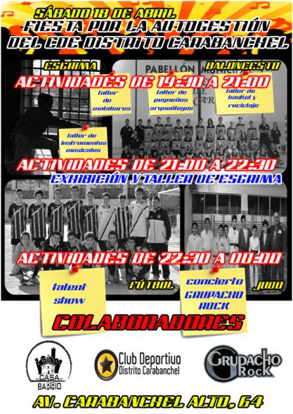 Fiesta Club deportivo Carabanchel.