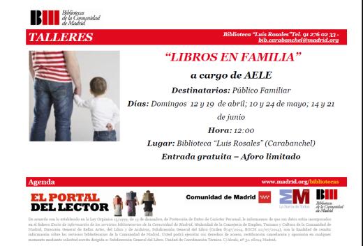 Talleres Libros en familia biblioteca Luis Rosales