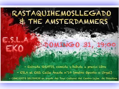 Conciertos solidarios por Palestina 31 de mayo EKO