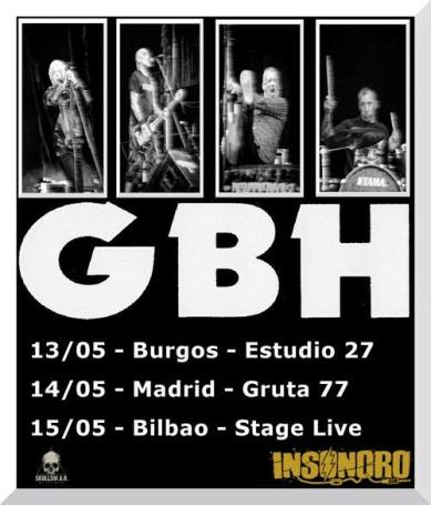 G.B.H. en el Gruta 77 el 14 de mayo