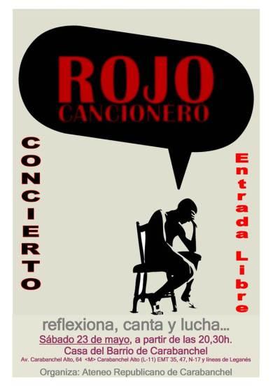 Rojo Cancionero Casa del Barrio 23 de mayo