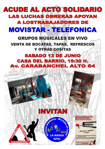 Acto solidario con los trabajadores de Telefónica