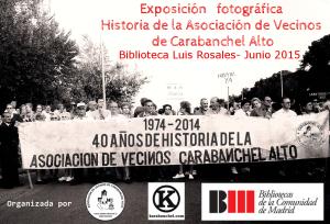 Cartel exposición fotográfica 40 años de historia de la Asociación de Vecinos Biblioteca Luis Rosales (1)