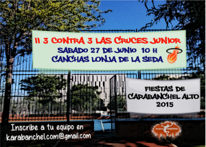 Cartel VII 3 contra 3 Las Cruces JUNIOR 2015