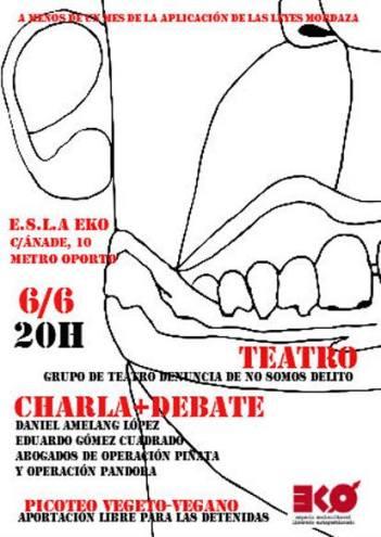 Charla-debate Represión al movimiento anarquista y ley mordaza en el EKO el 6 de junio
