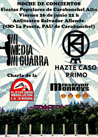 Noche de conciertos Fiestas de Carabanchel Alto