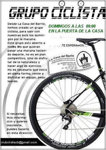 Salida grupo ciclista Casa del Barrio