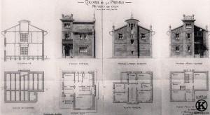Proyecto de Hotel tipo en la Colonia de la Prensa por el arquitecto F. López Blanco (1911)