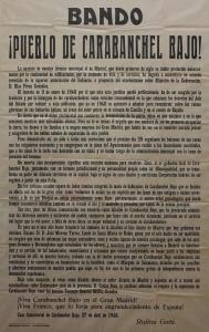 Ultimo bando de Rufino Goñi, último alcalde de Carabanchel Bajo (27 de abril de 1948)