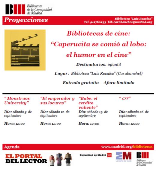 Caperucita se comió al lobo Bibliotecas de cine Luis Rosales