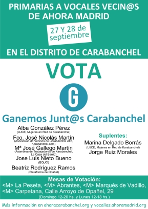 Cartel Primarias Voves