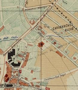 Colonia de la Prensa en el plano de Facundo Cañada (1900)