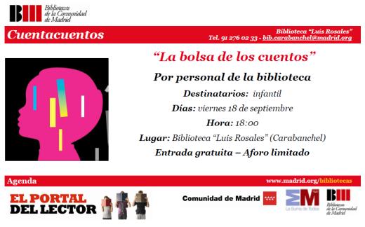 Cuentacuentos biblioteca Luis Rosales 18 de septiembre