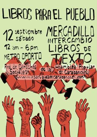 Intercambio libros de texto en Carabanchel 12 de septiembre