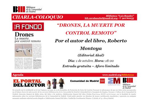 Presentación libro Drones biblioteca Luis Rosales