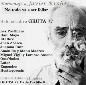 Homenaje a Javier Krahe en la Gruta 77 el 8 de octubre